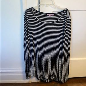 Calypso St. Barth Striped Long Sleeve Top